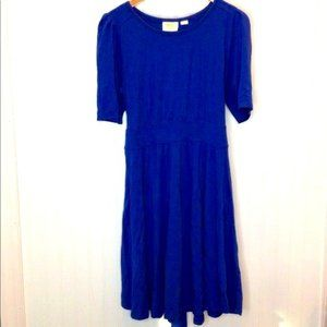 Maeve Anthropologie Blue T-Shirt Dress Large